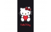 afb_Hello Kitty badlaken 75x150 black heart
